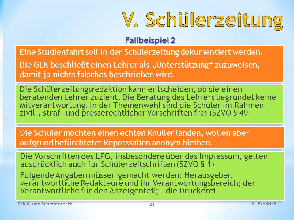 Fallbeispiel 3 Schul- und Beamtenrecht 22 H.