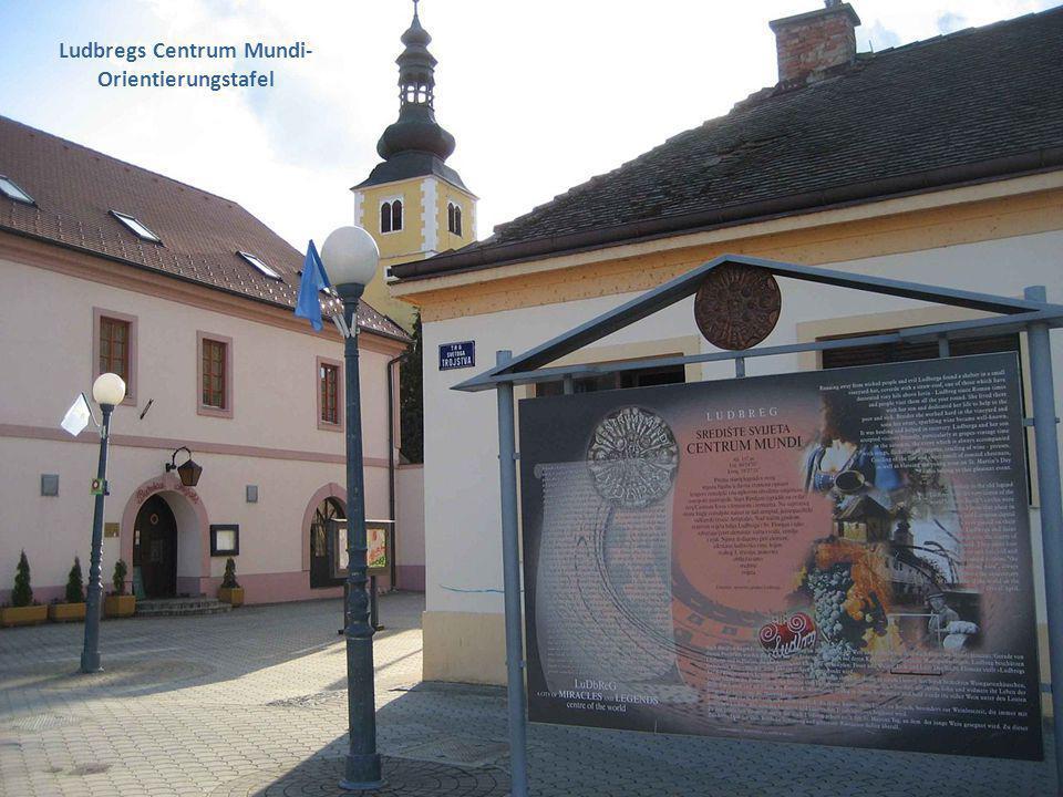 Ludbregs Centrum Mundi- Orientierungstafel
