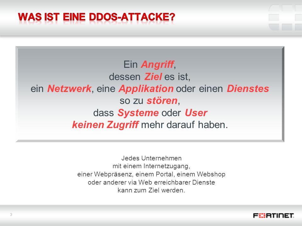 3 Ein Angriff, dessen Ziel es ist, ein Netzwerk, eine Applikation oder einen Dienstes so zu stören, dass Systeme oder User keinen Zugriff mehr darauf haben.