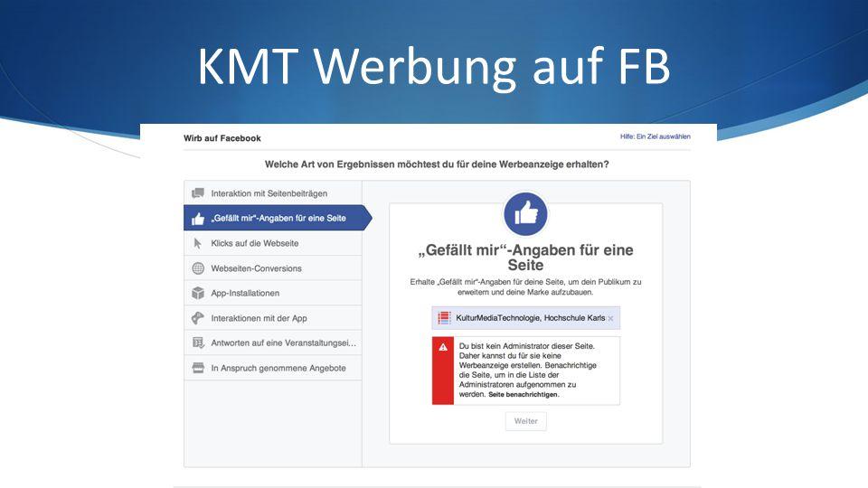 KMT Werbung auf FB