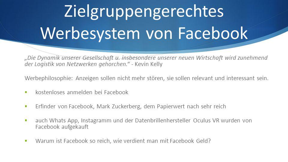 """Zielgruppengerechtes Werbesystem von Facebook """"Die Dynamik unserer Gesellschaft u."""
