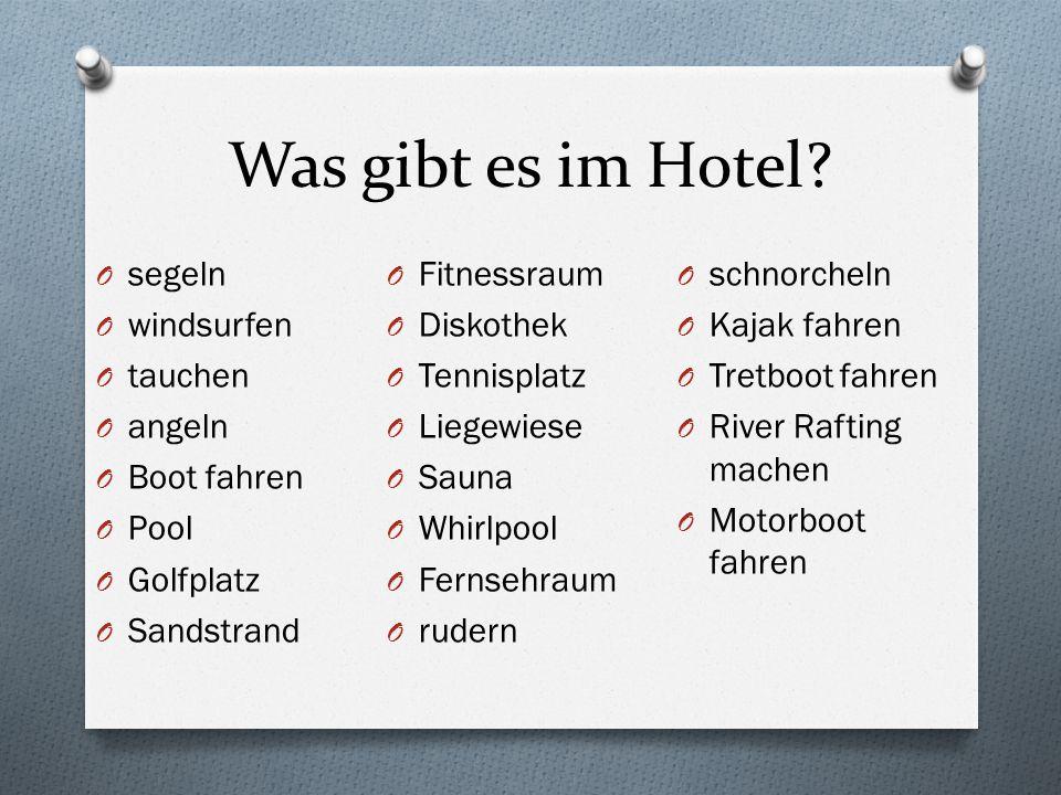 Was gibt es im Hotel.