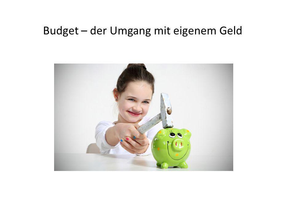 Budget – der Umgang mit eigenem Geld
