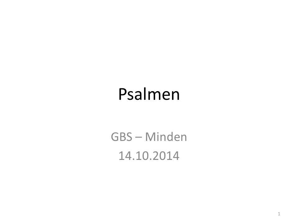 Psalmen GBS – Minden 14.10.2014 1