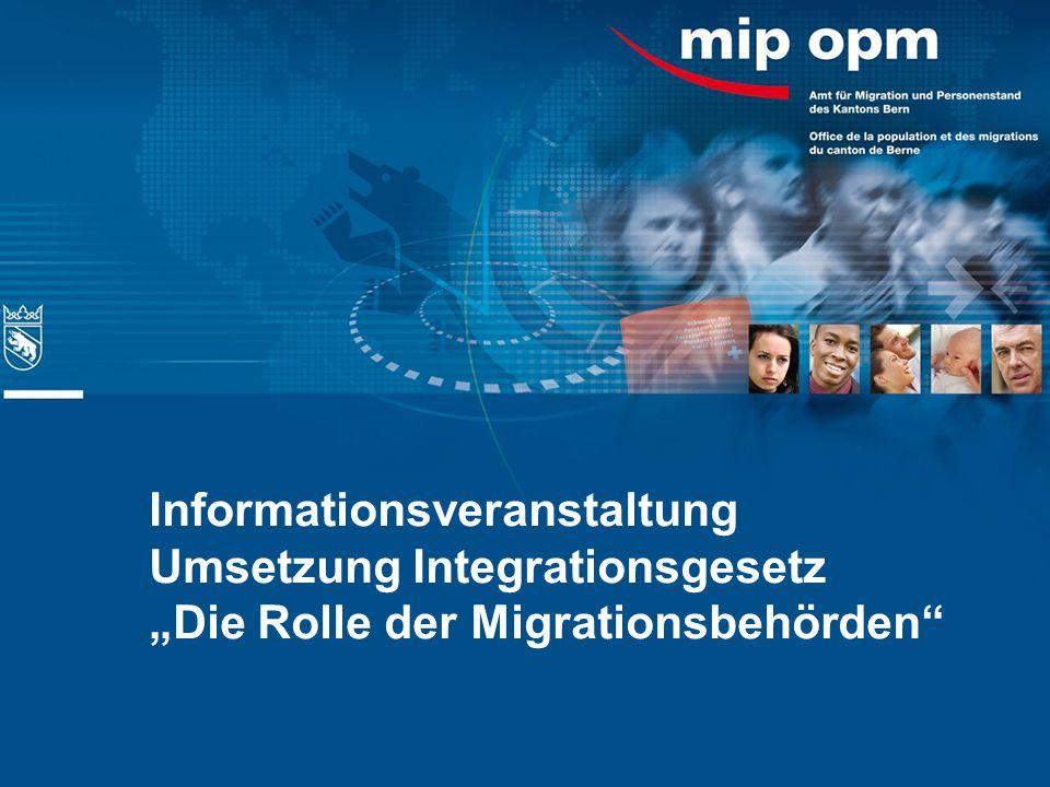 """Informationsveranstaltung Umsetzung Integrationsgesetz """"Die Rolle der Migrationsbehörden"""""""