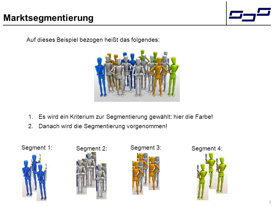 2 Marktsegmentierung Sind die Anforderungen an die Segmente erfüllt.