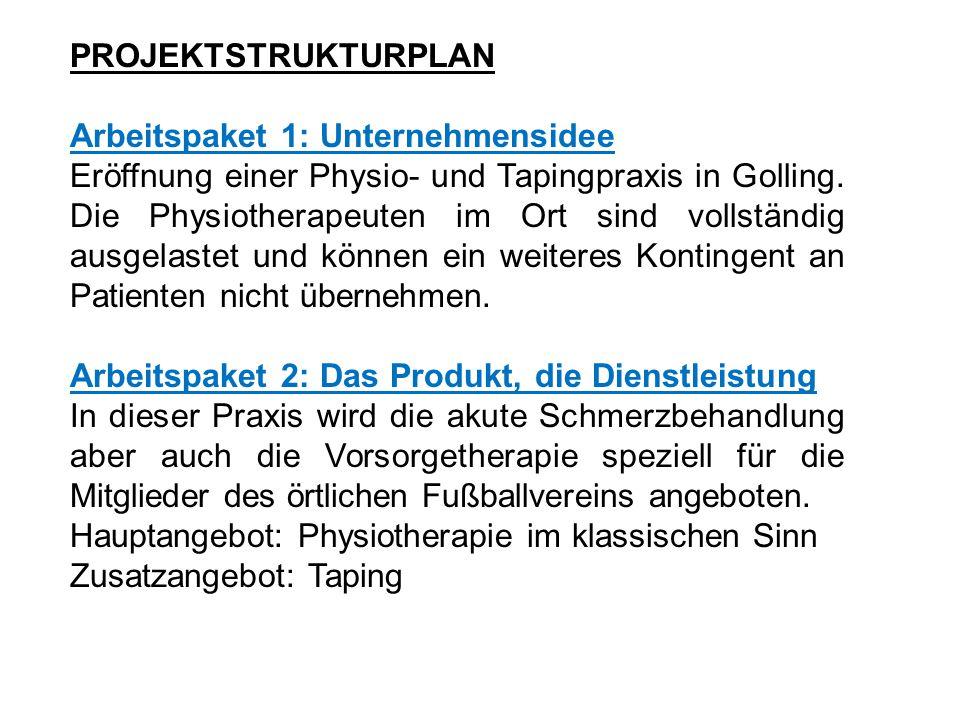 Arbeitspaket 3: Standort Sämtliche Mitglieder des SC-Raika Golling werden in vereinseigenen Räumlichkeiten behandelt.
