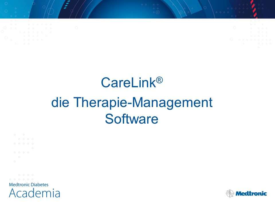 CareLink ® die Therapie-Management Software