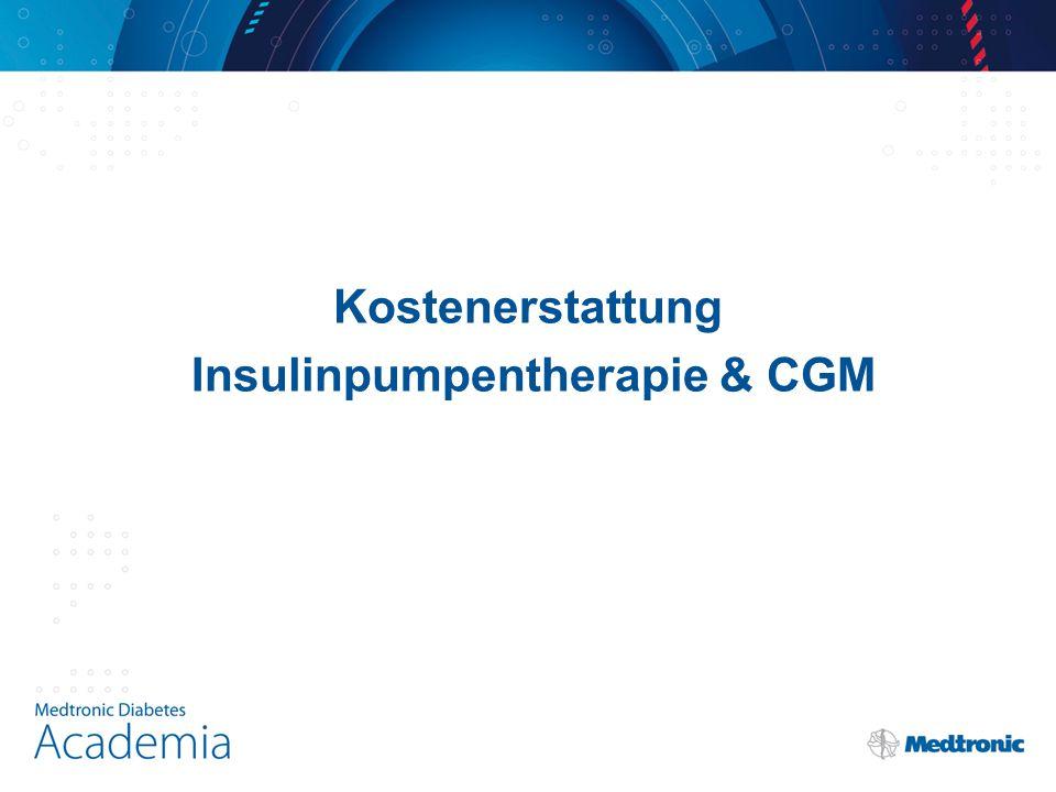 Kostenerstattung Insulinpumpentherapie & CGM