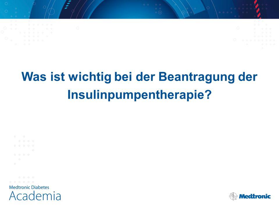 Was ist wichtig bei der Beantragung der Insulinpumpentherapie?