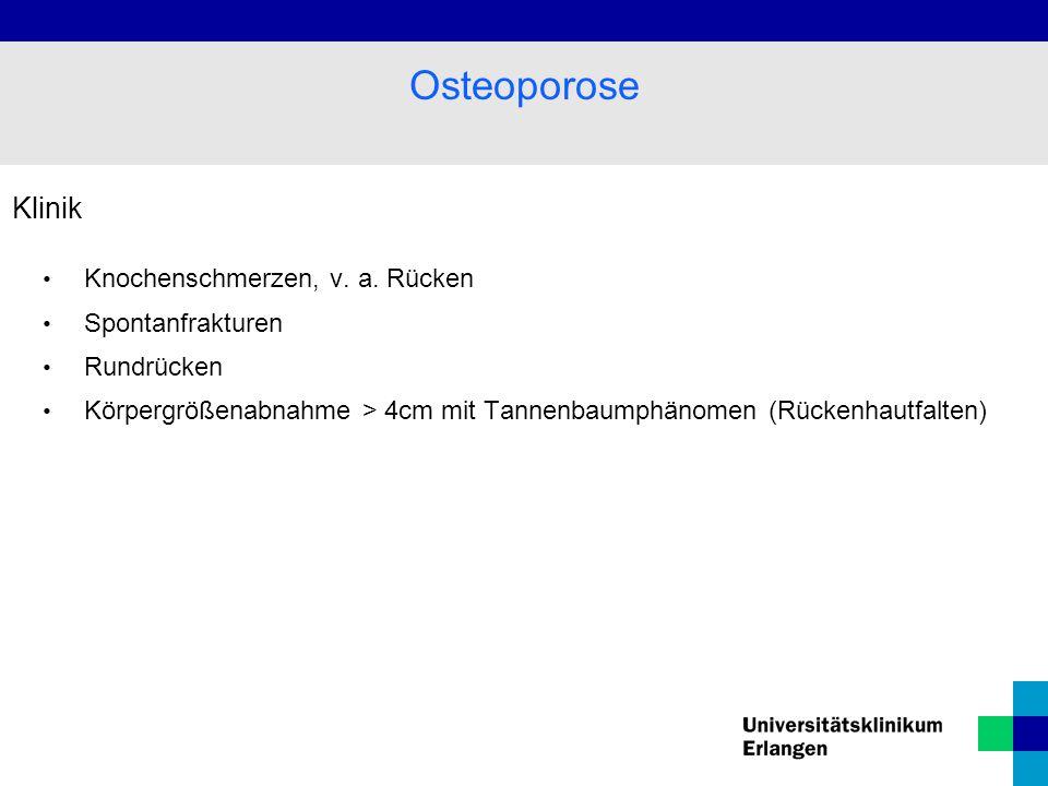 Klinik Knochenschmerzen, v.a.