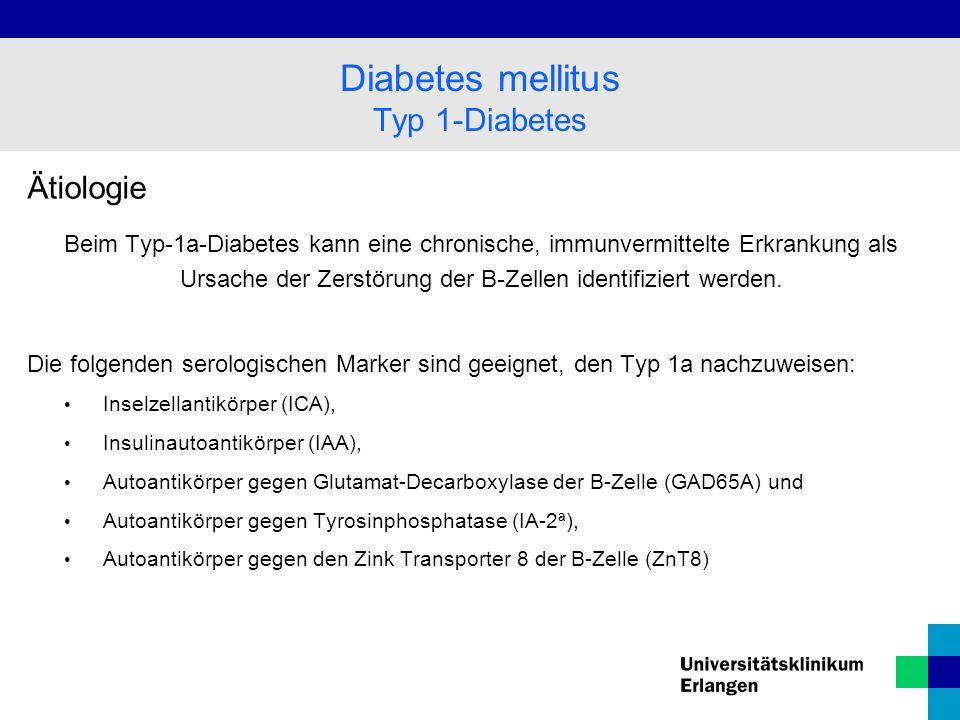 Ätiologie Beim Typ-1b-Diabetes kann keine ätiopathogenetische Ursache für die Zerstörung der B-Zellen identifiziert werden.
