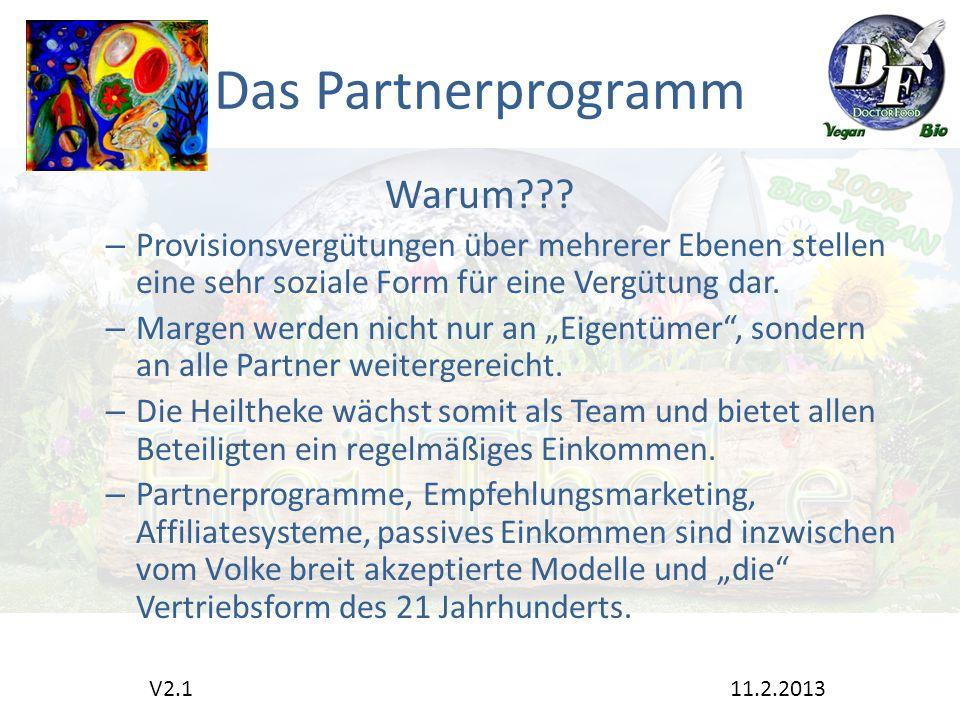 Das Partnerprogramm Warum .