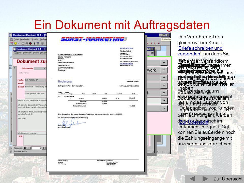 Zunächst wählen Sie im Firmenkontakt die Registerkarte 'Vorgänge' aus: Bestehende Vorgänge lassen sich durch einen Doppelklick in die jeweilige Vorgan