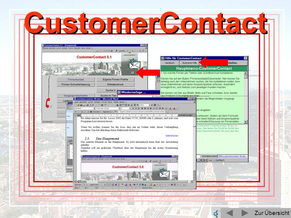 Zur Übersicht CustomerContact Zur Übersicht