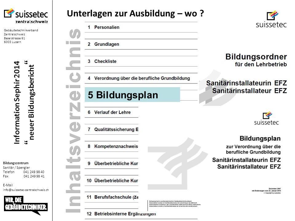Information Sephir 2014 neuer Bildungsbericht Leistungsziel definieren Am Freitag alle Stand-Maschinen reinigen
