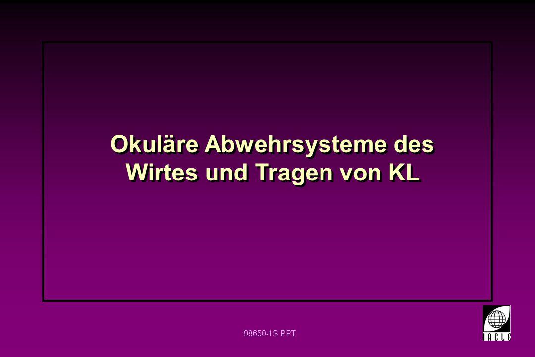 98650-1S.PPT Okuläre Abwehrsysteme des Wirtes und Tragen von KL