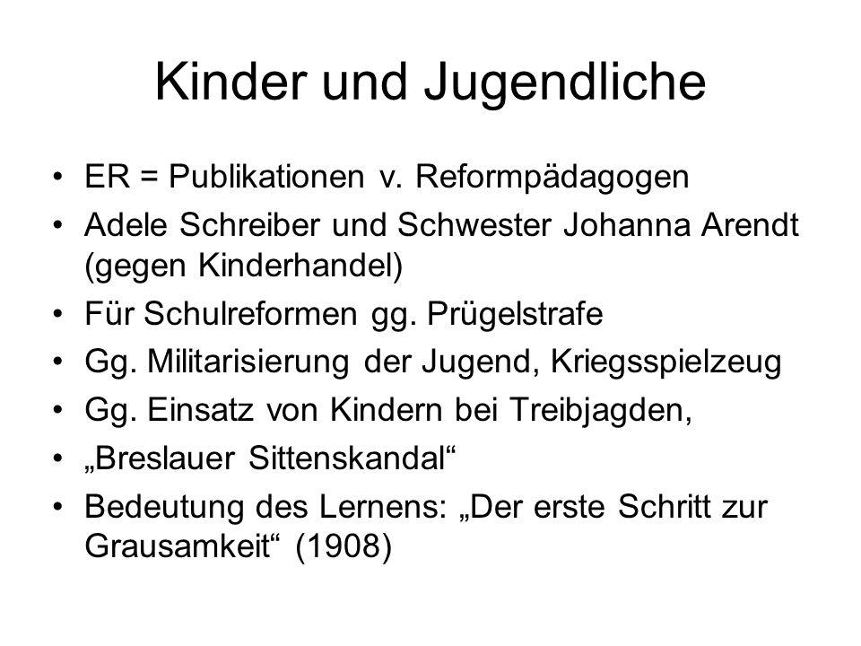 Kinder und Jugendliche ER = Publikationen v.