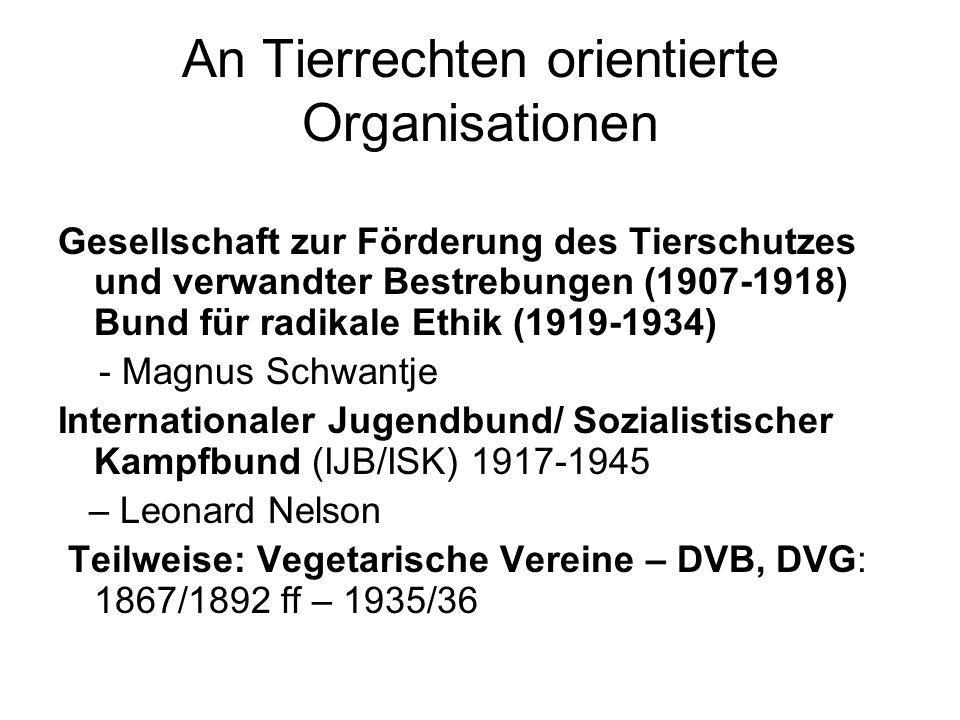 Pazifismus und Vegetarismus als Bundesgenossen Thema in der Ethischen Rundschau Autoren der Friedensbewegung in der ER Begrüßung des V.