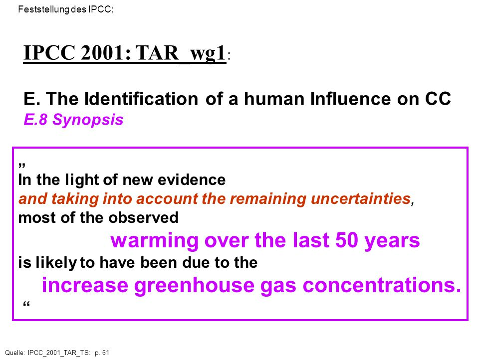 2.32 The Identification of a human Influence on Climate Change
