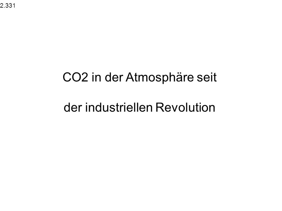 2.33 Treibhausgase in der Atmosphäre.331 CO2 und andere GHG seit der industriellen Revolution.332 Atmospheric CO2 on different time-scales.333 Strahlu