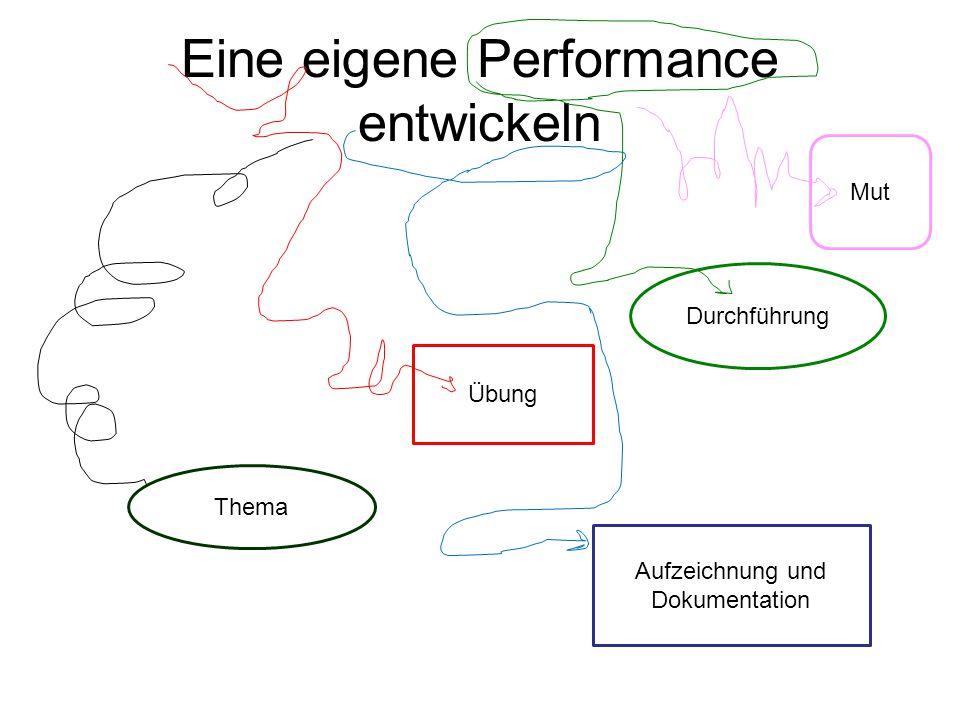 Eine eigene Performance entwickeln Thema Mut Übung Durchführung Aufzeichnung und Dokumentation