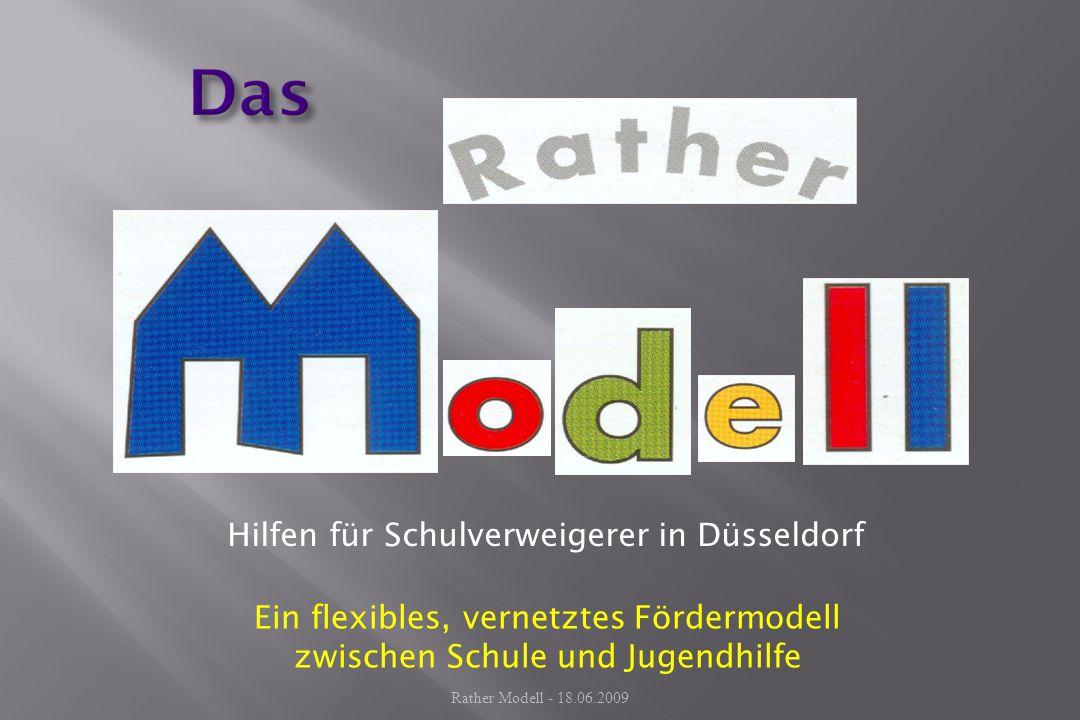 Hilfen für Schulverweigerer in Düsseldorf Ein flexibles, vernetztes Fördermodell zwischen Schule und Jugendhilfe Rather Modell - 18.06.2009