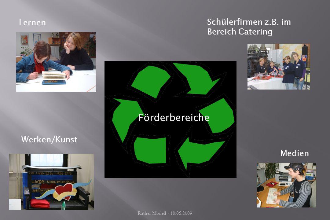 Lernen Werken/Kunst Medien Schülerfirmen z.B. im Bereich Catering Förderbereiche Rather Modell - 18.06.2009