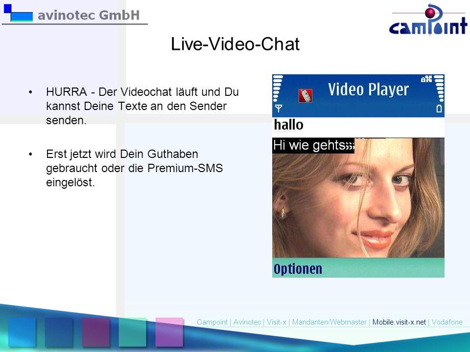Live-Video-Chat HURRA - Der Videochat läuft und Du kannst Deine Texte an den Sender senden. Erst jetzt wird Dein Guthaben gebraucht oder die Premium-S