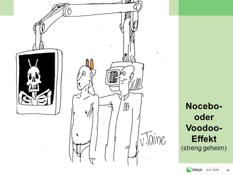 17 G 8 2005 Nocebo- oder Voodoo- Effekt (streng geheim)