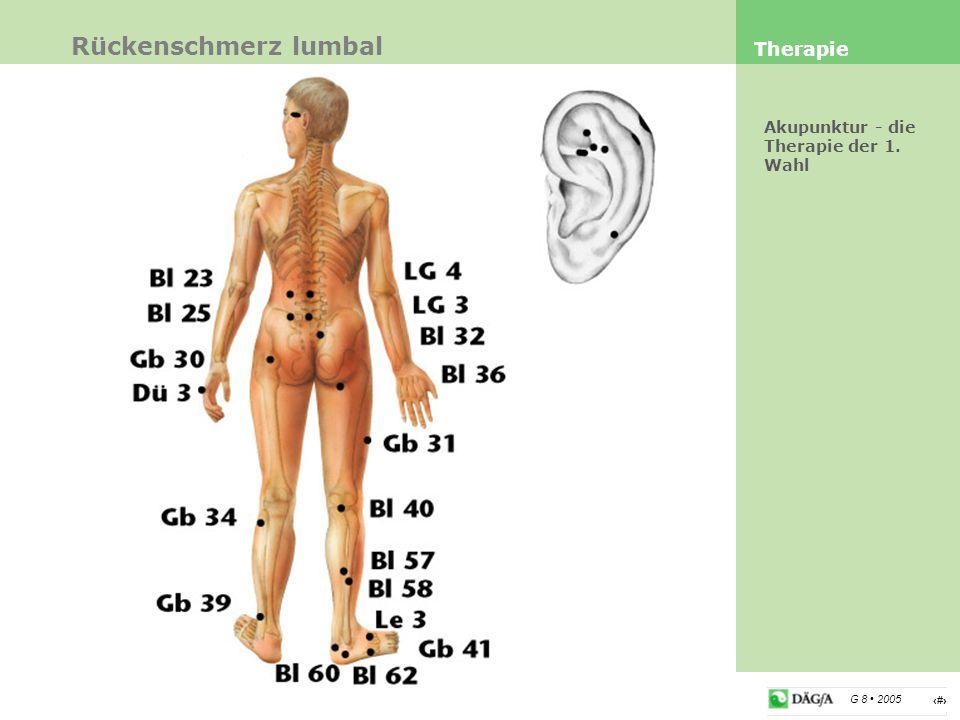 6 G 8 2005 Ex AH 7, Ex AH 9 Punkte Ex AH 7 effektiv bei Lumbago Ba Xie bei Polyarthrose (spez.