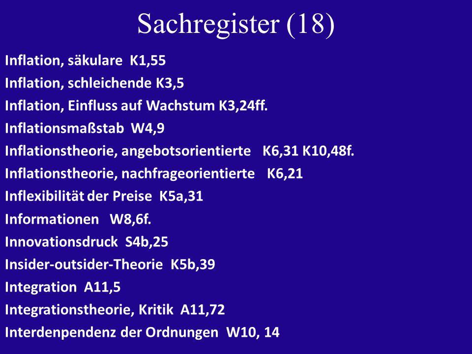 Sachregister (19) Internationale Koordination K12,34ff.