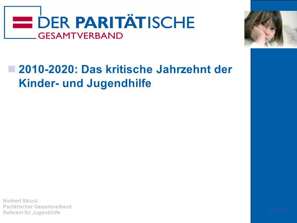 Norbert Struck Paritätischer Gesamtverband Referent für Jugendhilfe 2010-2020: Das kritische Jahrzehnt der Kinder- und Jugendhilfe Seite 18