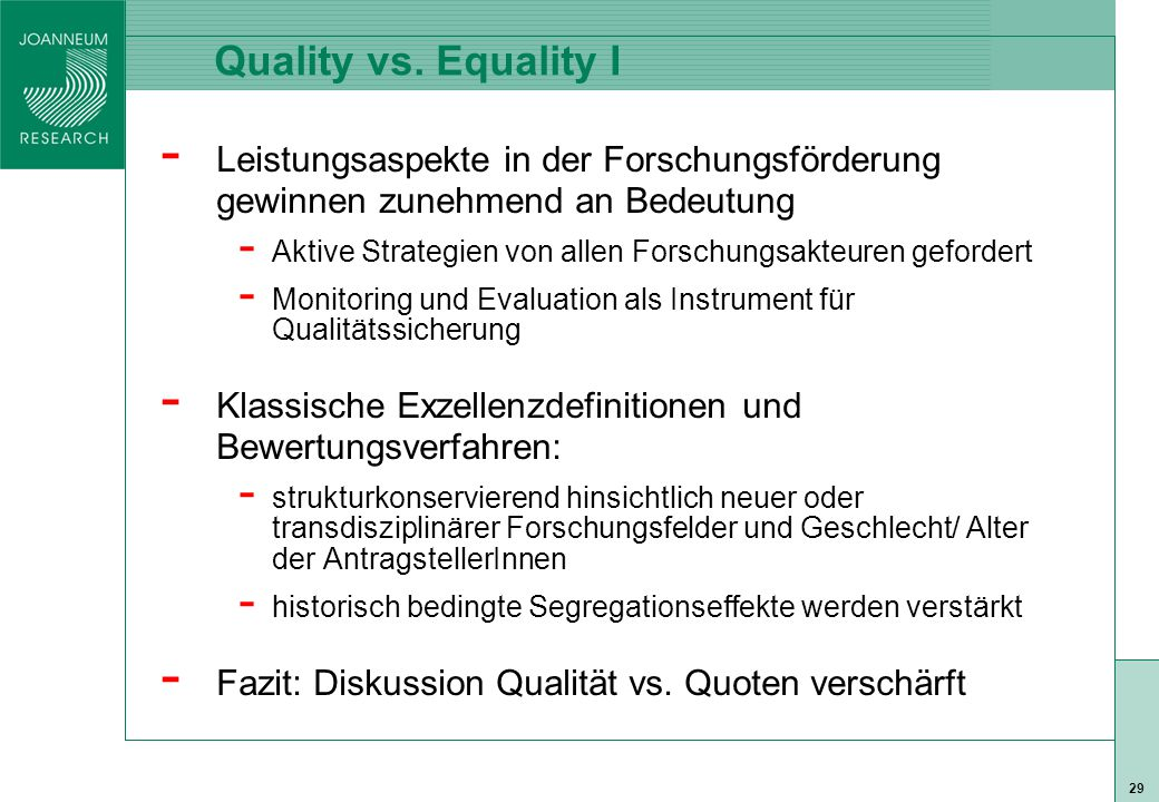 ISO 9001 zert 29 Quality vs.