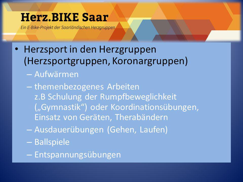 """Herzsport in den Herzgruppen (Herzsportgruppen, Koronargruppen) – Aufwärmen – themenbezogenes Arbeiten z.B Schulung der Rumpfbeweglichkeit (""""Gymnastik"""