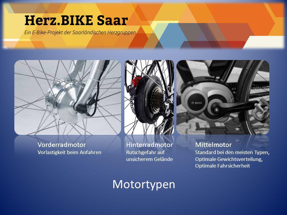 Herz.BIKE Saar Motortypen Vorderradmotor Vorlastigkeit beim Anfahren Hinterradmotor Rutschgefahr auf unsicherem Gelände Mittelmotor Standard bei den m