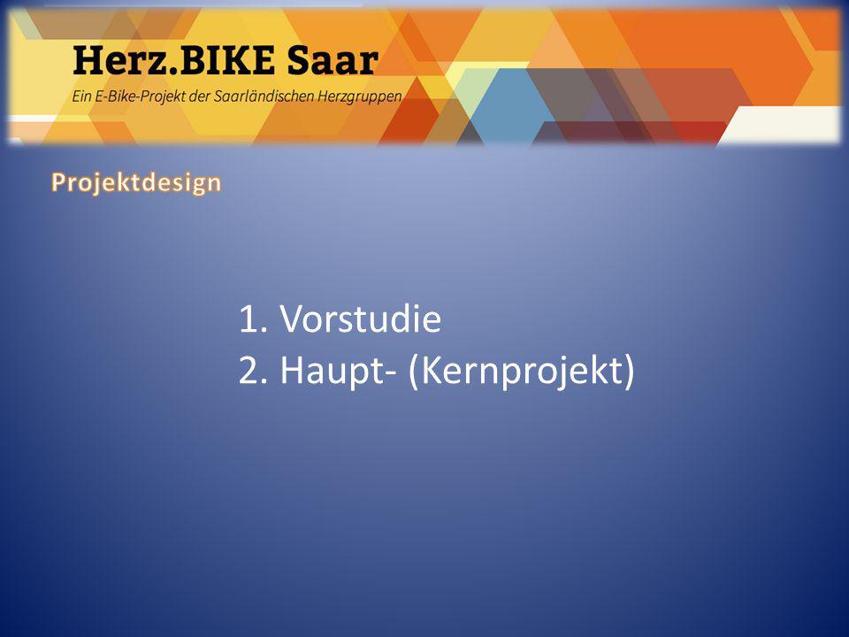 1. Vorstudie 2. Haupt- (Kernprojekt)