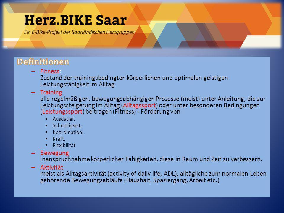 Sportliche Trainingsformen (Auswahl) – Ausdauer Joggen, Laufen, Radfahren, Schwimmen, Rudern, Nordic W.