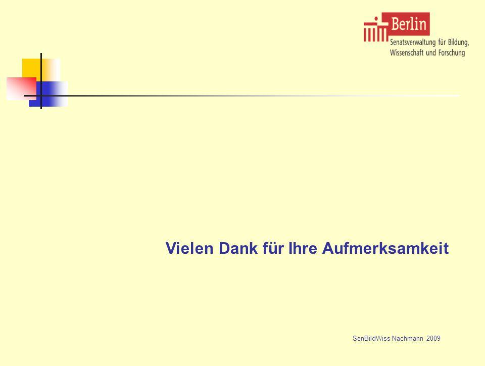 Vielen Dank für Ihre Aufmerksamkeit SenBildWiss Nachmann 2009