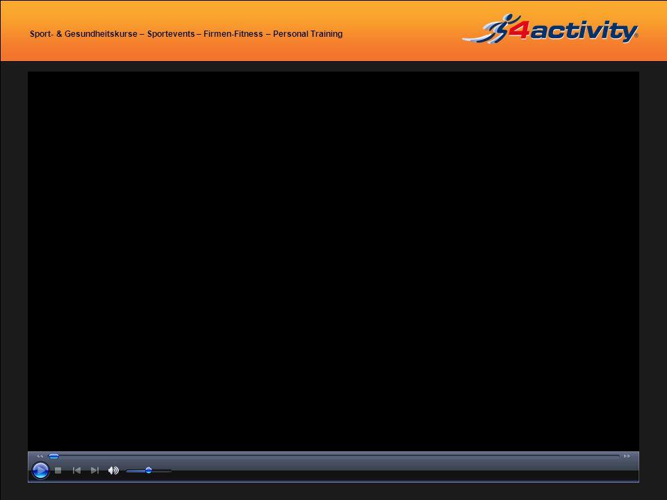 Sport- & Gesundheitskurse – Sportevents – Firmen-Fitness – Personal Training