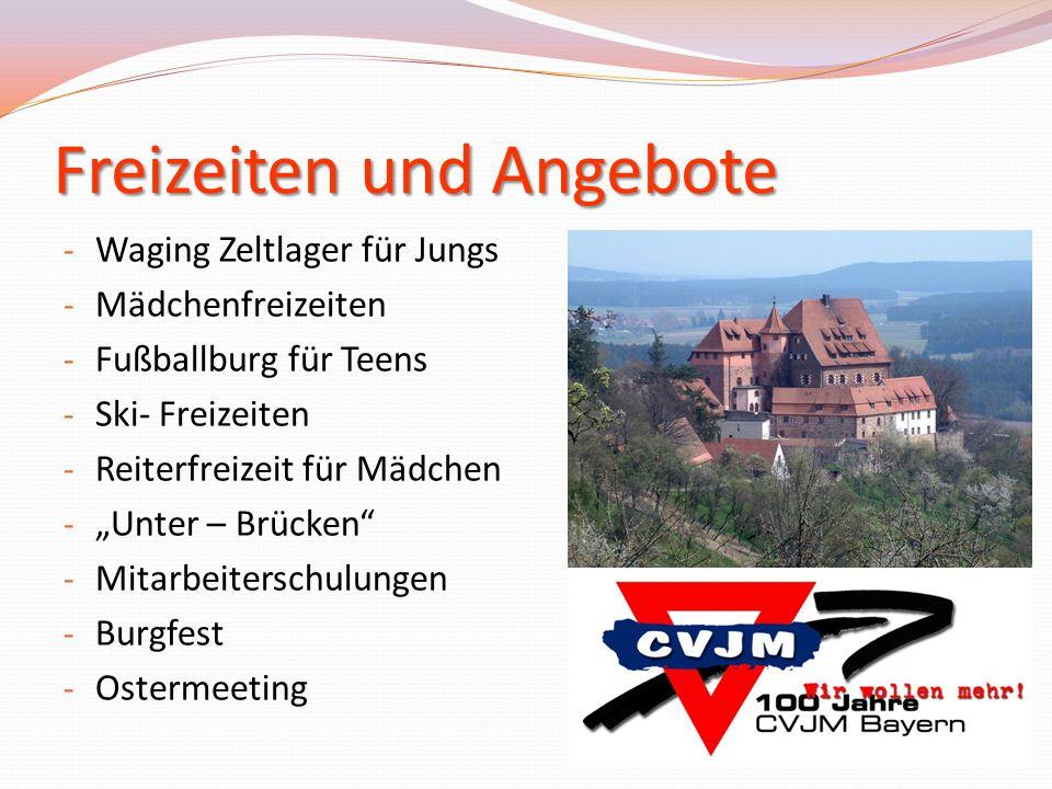 """Freizeiten und Angebote - Waging Zeltlager für Jungs - Mädchenfreizeiten - Fußballburg für Teens - Ski- Freizeiten - Reiterfreizeit für Mädchen - """"Unt"""