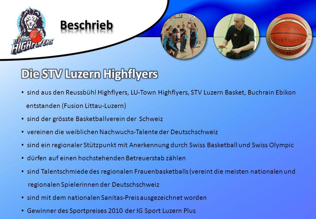 sind aus den Reussbühl Highflyers, LU-Town Highflyers, STV Luzern Basket, Buchrain Ebikon entstanden (Fusion Littau-Luzern) sind der grösste Basketbal