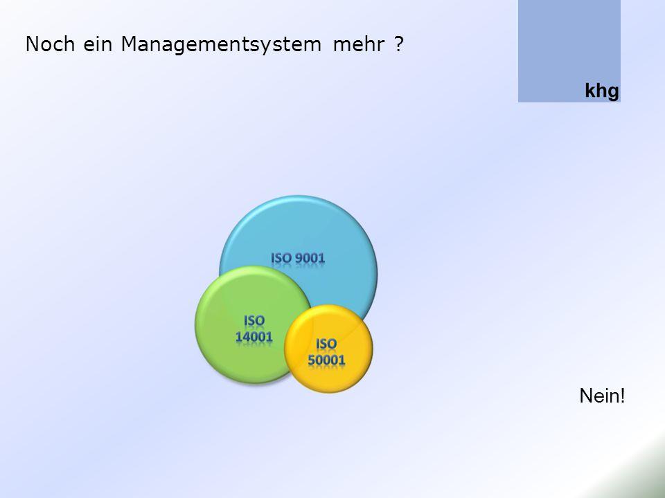 Managementsysteme ergänzen o Die Umsetzung der ISO 50001 bei den genannten Unternehmen haben gezeigt, dass die notwendigen Ergänzungen bei bestehenden Managementsystemen sehr überschaubar sind.