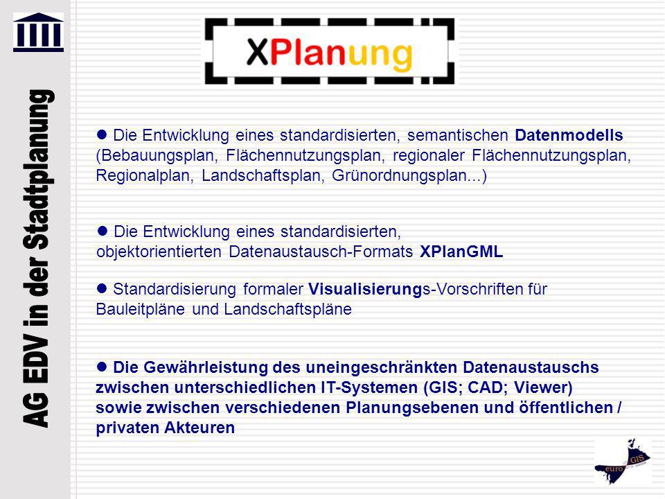 Die Entwicklung eines standardisierten, semantischen Datenmodells (Bebauungsplan, Flächennutzungsplan, regionaler Flächennutzungsplan, Regionalplan, L