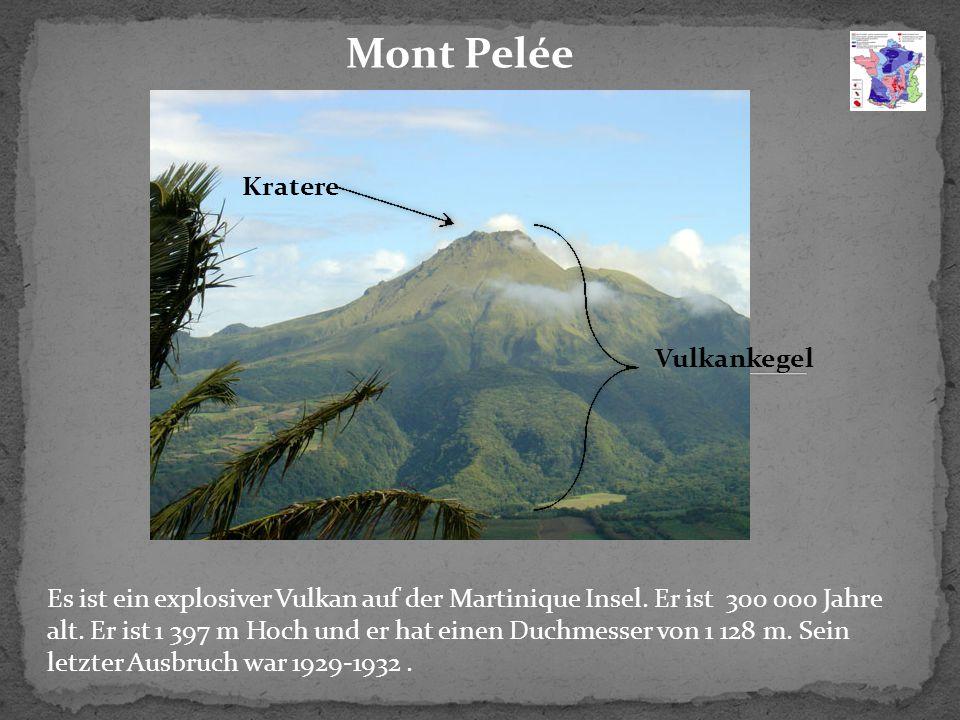 Mont Pelée Es ist ein explosiver Vulkan auf der Martinique Insel.
