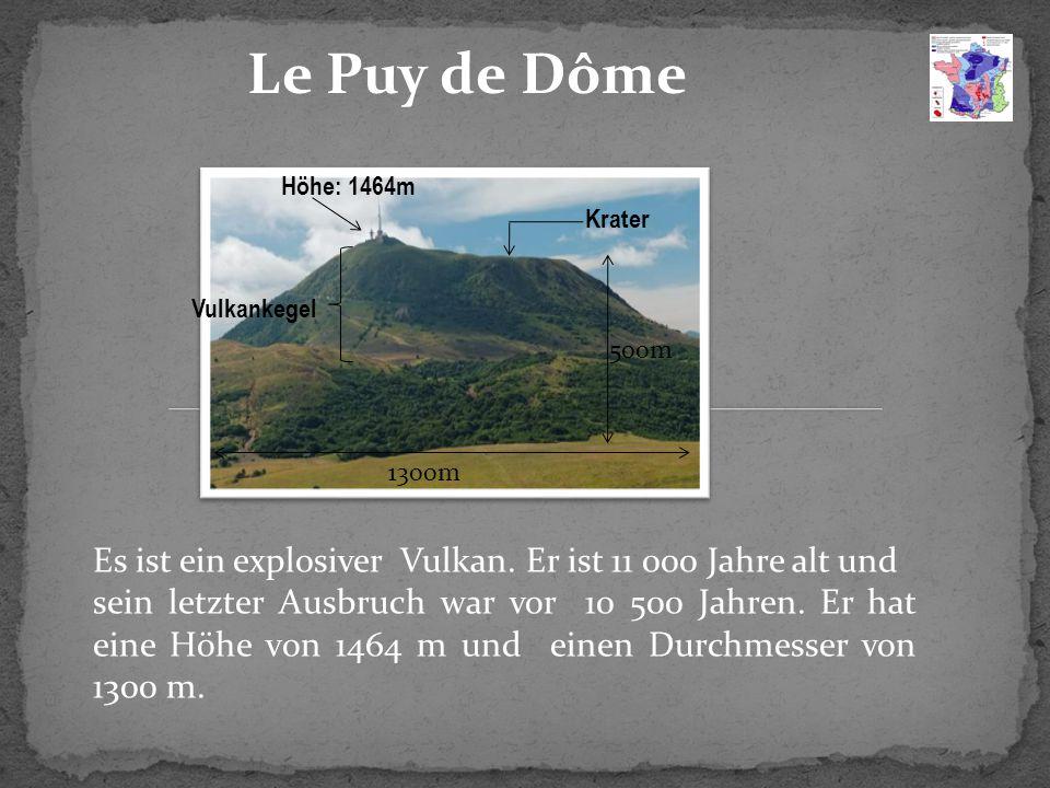 Le Puy de Dôme Es ist ein explosiver Vulkan.
