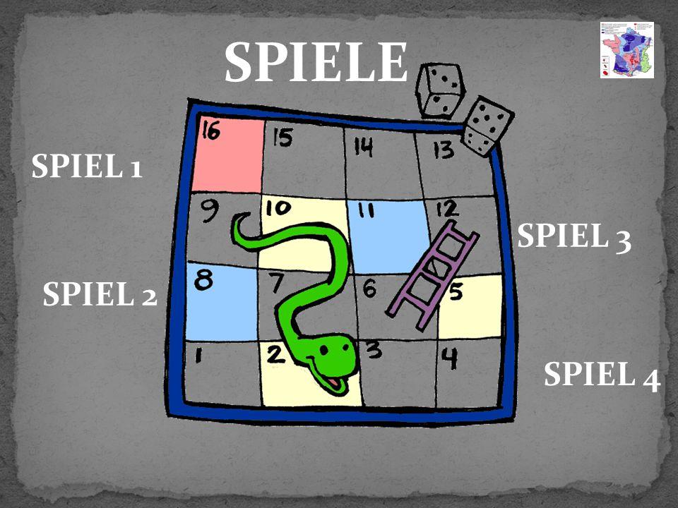 SPIELE SPIEL 1 SPIEL 2 SPIEL 3 SPIEL 4