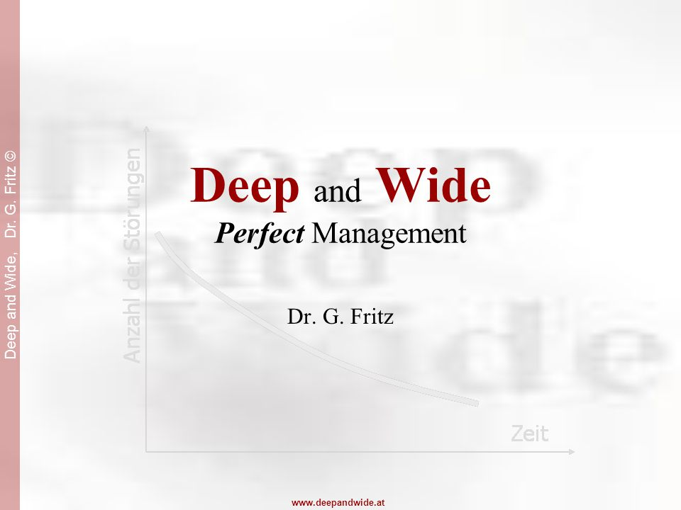 Deep and Wide, Dr. G. Fritz © www.deepandwide.at Deep and Wide Perfect Management Dr. G. Fritz