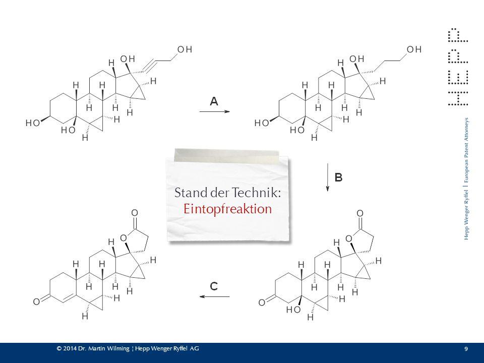 © 2014 Dr. Martin Wilming ¦ Hepp Wenger Ryffel AG 9 Stand der Technik: Eintopfreaktion