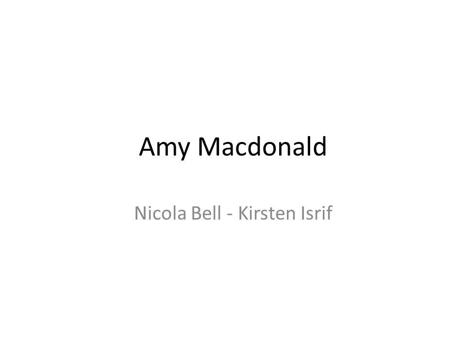 Nicola Bell - Kirsten Isrif Amy Macdonald Amy Macdonald Nicola Bell - Kirsten Isrif